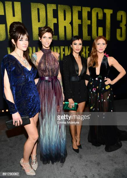 Hannah Fairlight Ruby Rose Andy Allo and Brittany Snow attend the premiere of Universal Pictures' 'Pitch Perfect 3' at Dolby Theatre on December 12...