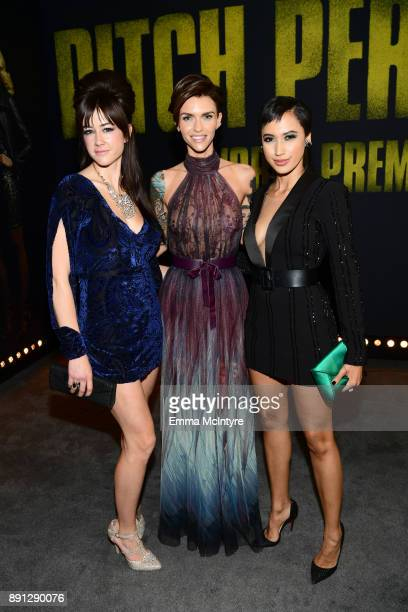 Hannah Fairlight Ruby Rose Andy Allo attend the premiere of Universal Pictures' Pitch Perfect 3 at Dolby Theatre on December 12 2017 in Hollywood...