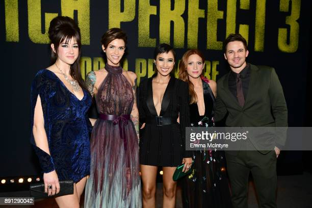 Hannah Fairlight Ruby Rose Andy Allo Brittany Snow and Matt Lanter attend the premiere of Universal Pictures' Pitch Perfect 3 at Dolby Theatre on...