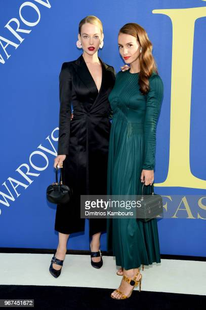 Hannah Ferguson and Chloe Gosselin attend the 2018 CFDA Fashion Awards at Brooklyn Museum on June 4 2018 in New York City