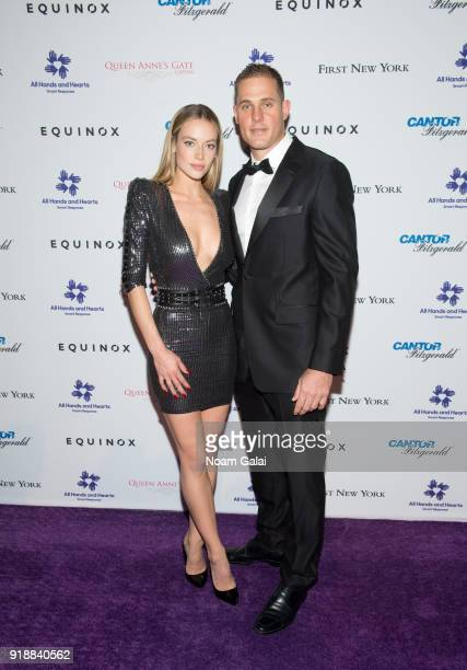 Hannah Ferguson and Conn Davis attend the All Hands and Hearts Smart Response Third Annual Fight For Education gala at Cipriani Wall Street on...