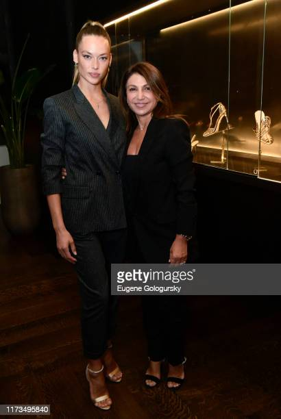 Hannah Ferguson and Mimi Luzon attend the Alevi Milano NYFW Dinner on September 09, 2019 in New York City.