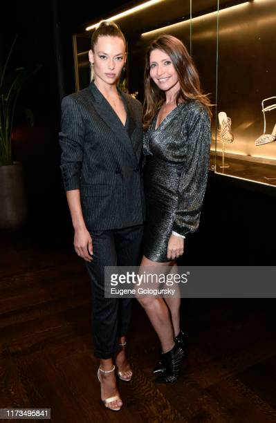 Hannah Ferguson and Valentina Micchetti attend the Alevi Milano NYFW Dinner on September 09, 2019 in New York City.