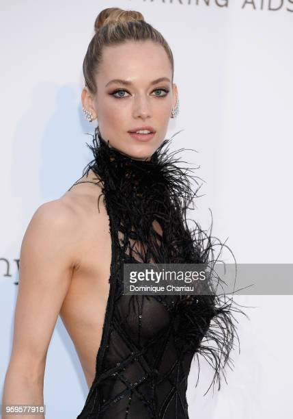 Hannah Ferguson arrives at the amfAR Gala Cannes 2018 at Hotel du CapEdenRoc on May 17 2018 in Cap d'Antibes France