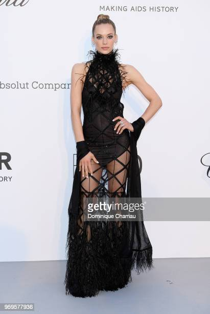 Hannah Ferguson arrives at the amfAR Gala Cannes 2018 at Hotel du CapEdenRoc on May 17 2018 in Cap d'Antibes France