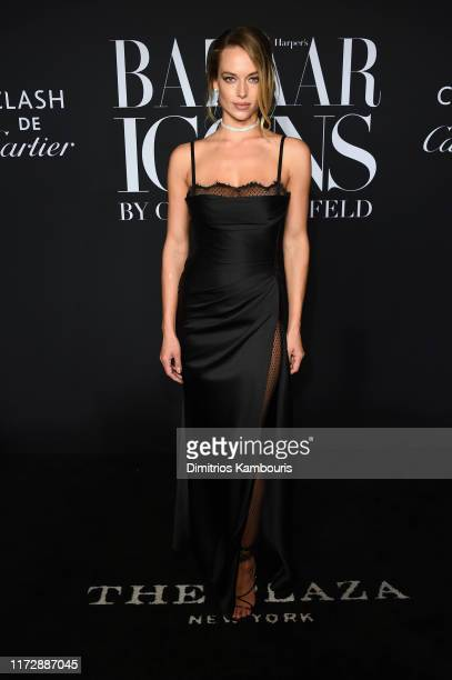 "Hannah Ferguson attends as Harper's BAZAAR celebrates ""ICONS By Carine Roitfeld"" at The Plaza Hotel presented by Cartier - Arrivals on September 06,..."