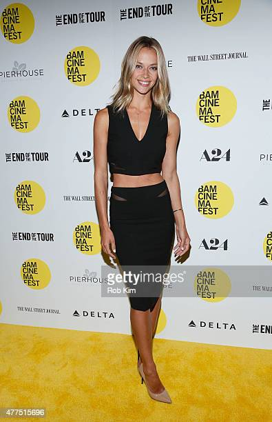 Hannah Ferguson attends BAMcinemaFest 2015 The End Of The Tour opening night screening at BAM Howard Gilman Opera House on June 17 2015 in New York...