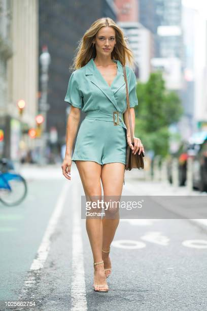 Hannah Ferguson attends casting for the 2018 Victoria's Secret Fashion Show in Midtown on August 31 2018 in New York City