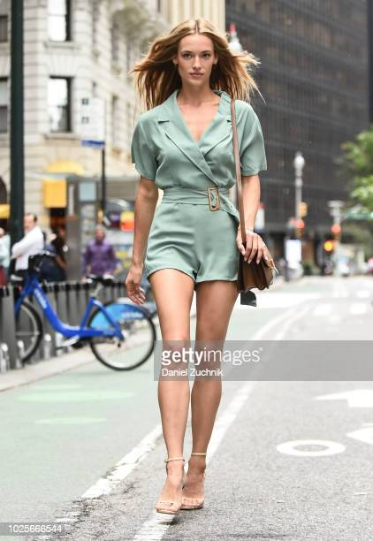 Hannah Ferguson attends the casting for the 2018 Victoria's Secret Fashion Show in Midtown on August 31 2018 in New York City