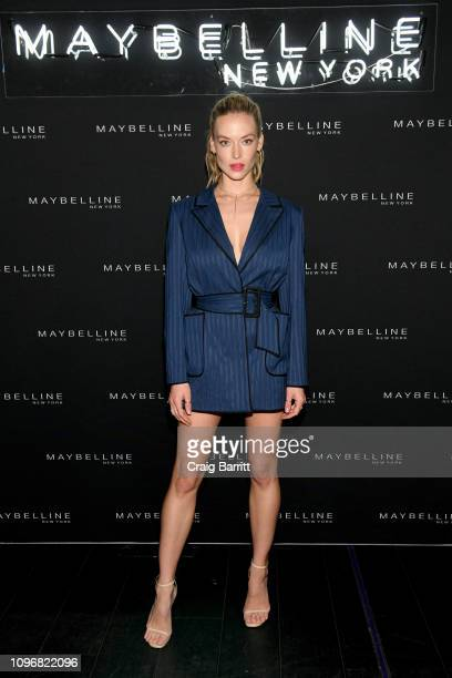 Hannah Ferguson attends the Maybelline New York Fashion Week Party on February 10, 2019 in New York City.