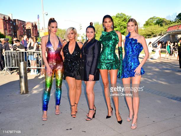 Hannah Ferguson, Bebe Rexha, guest, Cindy Bruna and guest arrive to the 2019 CFDA Fashion Awards at Brooklyn Museum on June 3, 2019 in New York City.