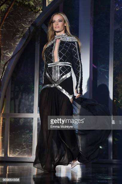 Hannah Ferguson walks the runway at the amfAR Gala Cannes 2018 at Hotel du CapEdenRoc on May 17 2018 in Cap d'Antibes France