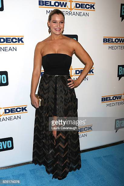 Hannah Ferrier attends Bravo's Below Deck Premiere at The IAC Building on April 27 2016 in New York City