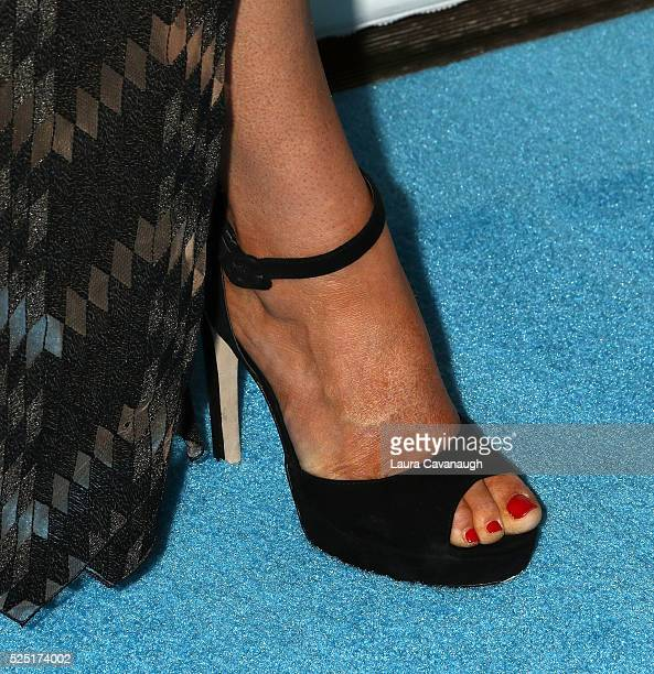 Hannah Ferrier shoe detail attends Bravo's Below Deck Premiere at The IAC Building on April 27 2016 in New York City