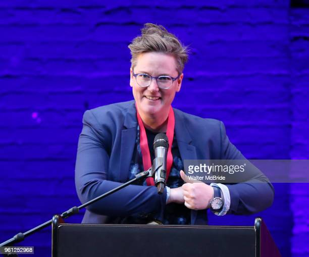 Hannah Gadsby on stage during the 9th Annual LILLY Awards at the Minetta Lane Theatre on May 212018 in New York City
