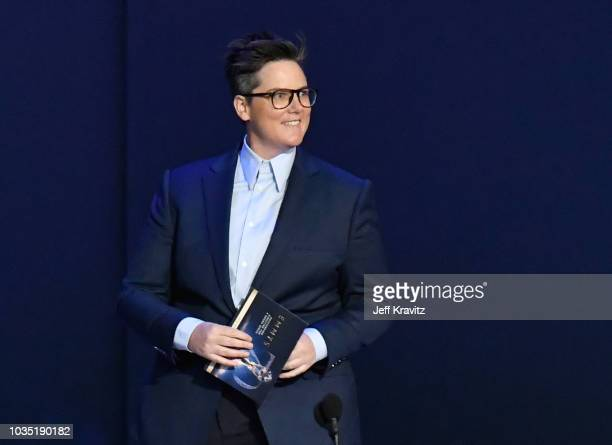 Hannah Gadsby onstage during the 70th Emmy Awards at Microsoft Theater on September 17 2018 in Los Angeles California