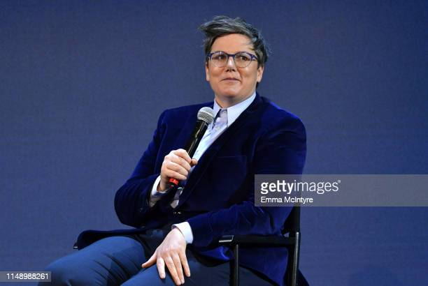 Hannah Gadsby speaks onstage during the FYSEE Hannah Gadsby conversation and reception at Raleigh Studios on May 13 2019 in Los Angeles California