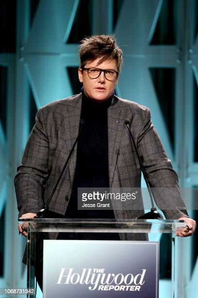 Hannah Gadsby speaks onstage during The Hollywood Reporter's Power 100 Women In Entertainment at Milk Studios on December 5 2018 in Los Angeles...