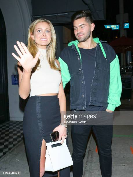 Hannah Godwin and Dylan Barbour are seen on January 12 2020 in Los Angeles California