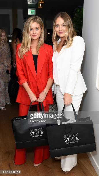 Hannah Godwin and Skye Chandler attend the Box of Style By Rachel Zoe Female Founders Dinner at The AllBright West Hollywood on October 03 2019 in...