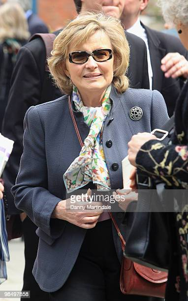 Hannah Gordon attends the funeral of Christopher Cazenove held at St Paul's Church in Covent Garden on April 16 2010 in London England