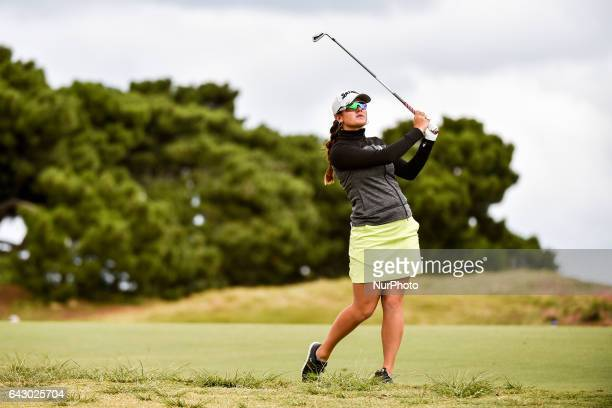 Hannah Green from Australia of on the 11th fairway during round four of the ISPS Handa Women's Australian Open at Royal Adelaide Golf Club on...