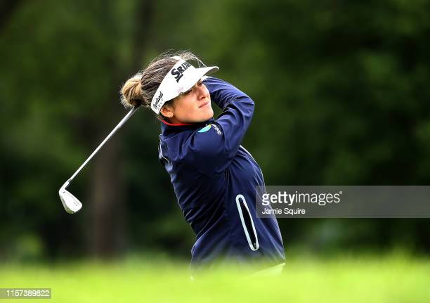 Hannah Green of Australia hits her first shot on the 8th hole during the second round of the KPMG Women's PGA Championship at Hazeltine National Golf...