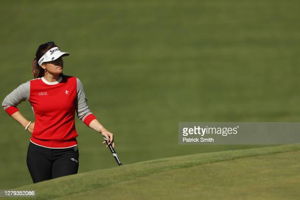 Hannah Green of Australia looks on during the second round of the 2020 KPMG Women's PGA Championship at Aronimink Golf Club on October 09, 2020 in...