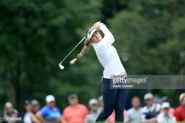 Hannah Green of Australia plays her tee shot on the par 3 13th hole during the final round of the 2019 KPMG Women's PGA Championship at Hazeltine...