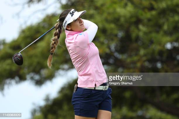 Hannah Green of Australia watches her tee shot on the 17th hole during the first round of the Lotte Championship on April 18 2019 in Kapolei Hawaii