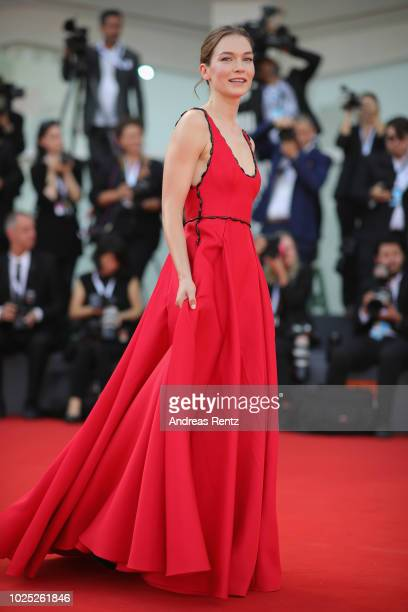 Hannah Gross walks the red carpet ahead of the 'The Mountain' screening during the 75th Venice Film Festival at Sala Grande on August 30 2018 in...