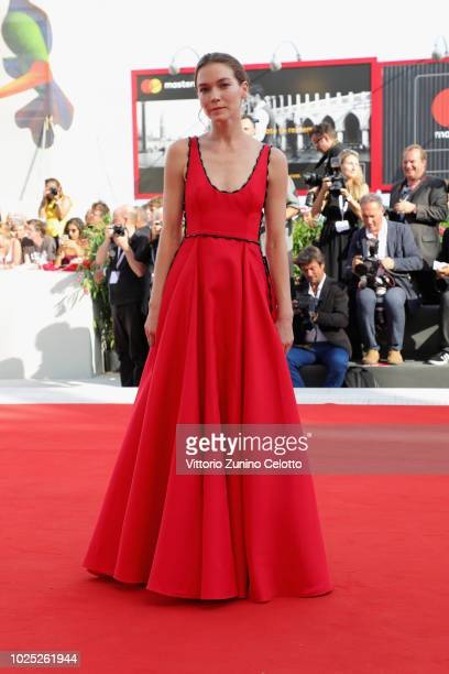 Hannah Gross walks the red carpet ahead of the 'The Mountain' screening during the 75th Venice Film Festival at Sala Grande on August 30, 2018 in...