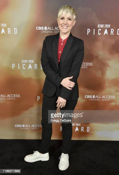 """Hannah Hart attends the Premiere Of CBS All Access' """"Star Trek: Picard"""" at ArcLight Cinerama Dome on January 13, 2020 in Hollywood, California."""