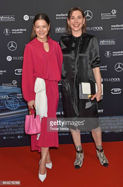 Hannah Herzsprung and Christiane Paul attend the 'Steig Nicht Aus' Premiere on April 9 2018 in Berlin Germany