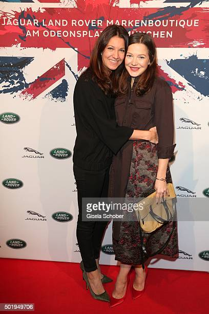 Hannah Herzsprung and her sister Sara Herzsprung during the opening of the Jaguar Land Rover Boutique on December 18 2015 in Munich Germany
