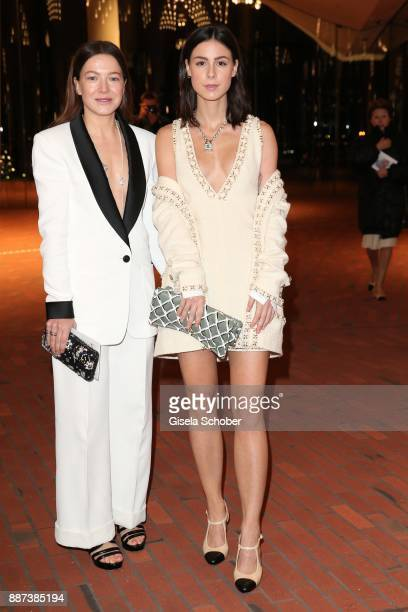 Hannah Herzsprung and Lena MeyerLandrut during the Chanel 'Trombinoscope' Collection des Metiers d'Art 2017/18 photo call at Elbphilharmonie on...