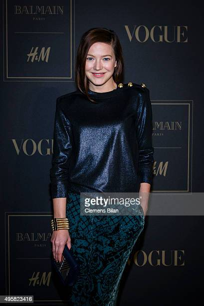Hannah Herzsprung attends the BALMAIN x HM Berlin Launch Party on November 4 2015 in Berlin Germany