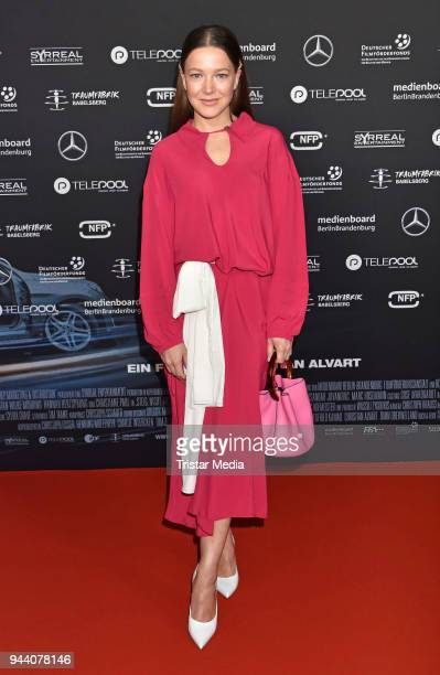 Hannah Herzsprung attends the 'Steig Nicht Aus' Premiere on April 9 2018 in Berlin Germany