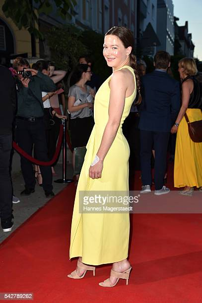 Hannah Herzsprung during the ARD Degeto Get Together during the Munich Film Festival 2016 at Kaisergarten on June 24 2016 in Munich Germany