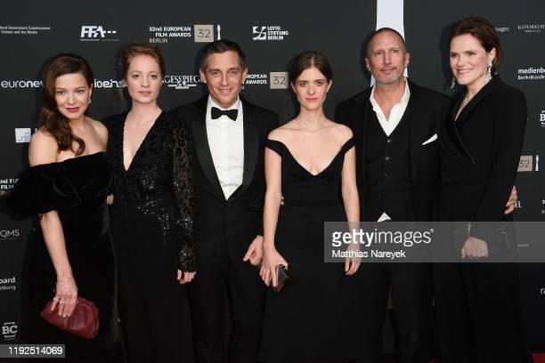 Hannah Herzsprung, Leonie Benesch, Volker Bruch, Liv Lisa Fries. Benno Fuermann and Fritzi Haberlandt attend the 32nd European Film Awards at Haus...