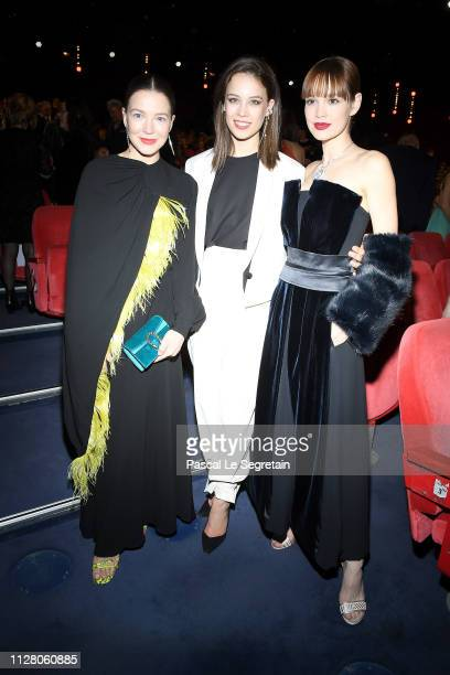 Hannah Herzsprung Paula Beer and Emilia Schuele attend the The Kindness Of Strangers premiere during the 69th Berlinale International Film Festival...