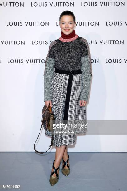 Hannah Herzsprung wearing Louis Vuitton attends the 'Louis Vuitton Time Capsule' Exhibition Opening at Franzoesisches Palais on September 14 2017 in...