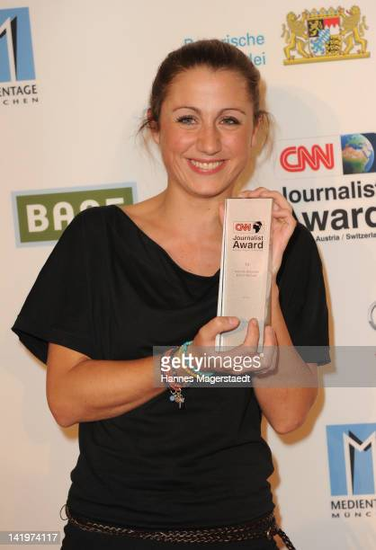Hannah Hoelscher attends the CNN Journalist Award 2012 at the GOP Variete Theater on March 27, 2012 in Munich, Germany.