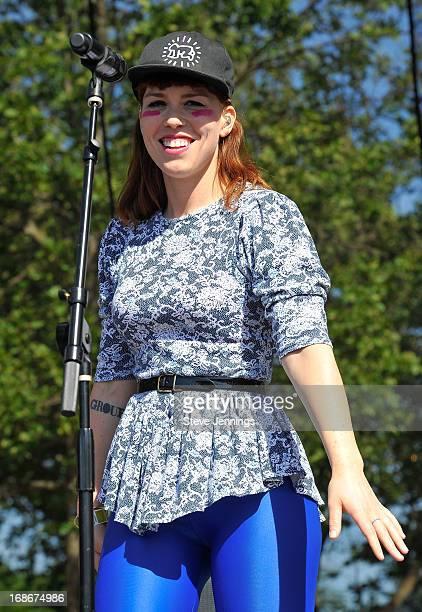 Hannah Hooper of Grouplove performs at Bottle Rock Napa Valley Festival at Napa Valley Expo on May 12 2013 in Napa California