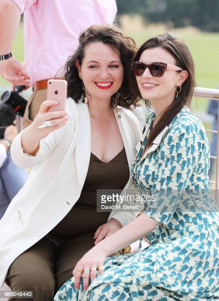 Hannah JamesScott and Aisling Bea attend the Audi Polo Challenge at Coworth Park Polo Club on July 1 2018 in Ascot England