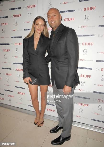 Hannah Jeter and Derek Jeter attend Dr Sampson Davis and Sharlee Jeter's The Stuff book launch at 48 Lounge on May 14 2018 in New York City
