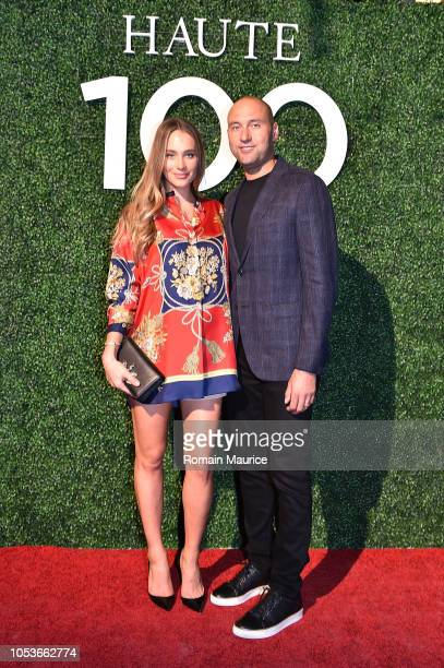 Hannah Jeter and Derek Jeter attend Haute Living's Haute 100 10th Anniversary Party at Swan Miami on October 25 2018 in Miami Florida