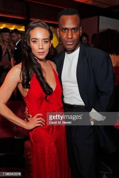 Hannah John-Kamen and Kadiff Kirwan attend the Vanity Fair EE Rising Star Award Party ahead of the 2020 EE BAFTAs at The Standard London on January...
