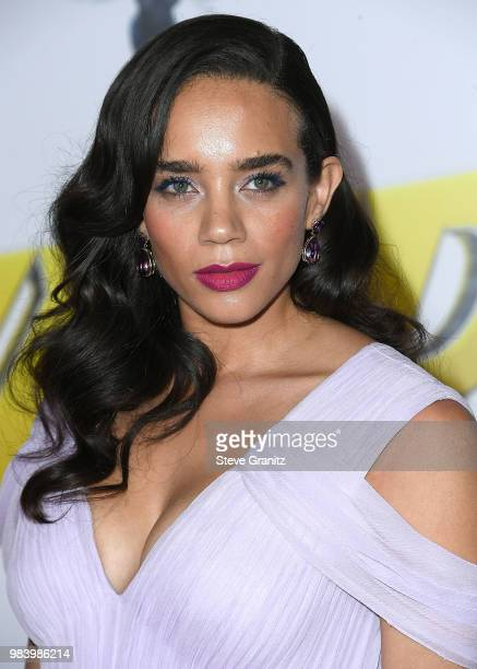 Hannah JohnKamen arrives at the Premiere Of Disney And Marvel's 'AntMan And The Wasp' on June 25 2018 in Hollywood California