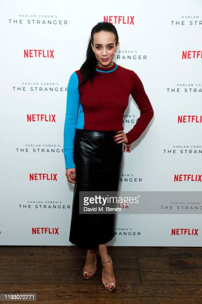Hannah John-Kamen attends 'Harlan Coben's The Stranger' screening and Q&A, which premieres on Netflix from 30 January 2020, at The Soho Hotel on...